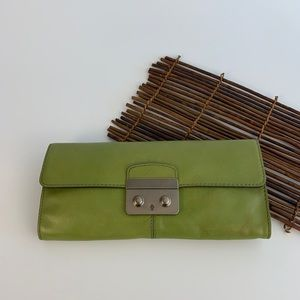 Banana Republic Green Clutch Handbag